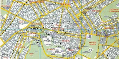 Atenas Mapa Mapas De Atenas Grecia